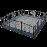 кованная оградка для могилы