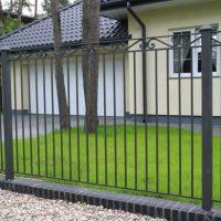 металлический кованный забор